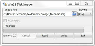 how to make Bootable USB using Win32 disk imager