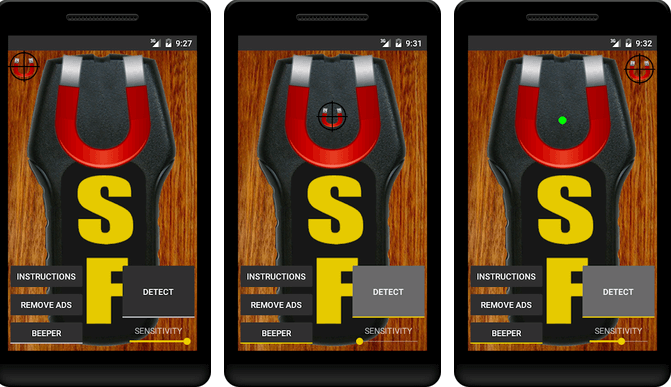 Stud Finder app for Android