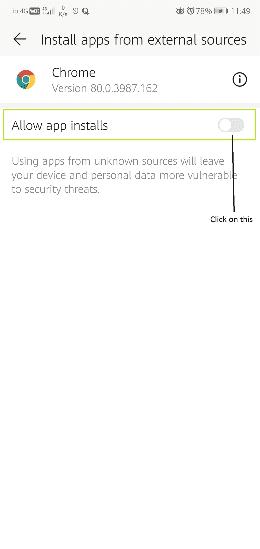 Allow app Install