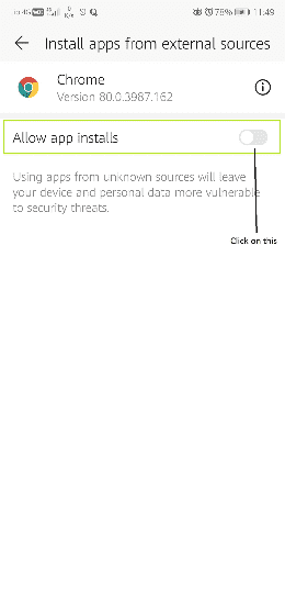 installing 3rd party app