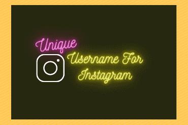 unique usernames for instagram